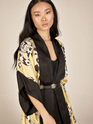 Snake print kimono S21-21203F - Dolce Domenica