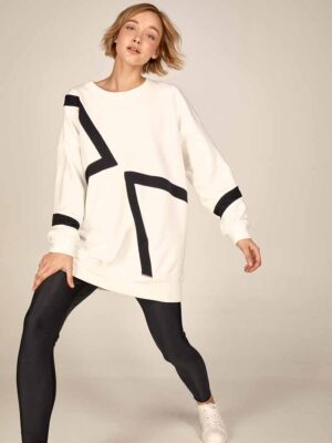 Leggins S21-21308M Oversized sweatshirt S21-21609A - Dolce Domenica