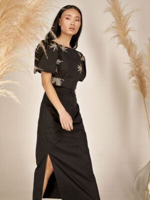 Crop top S21-21618M High waisted skirt S21-21404 - Dolce Domenica