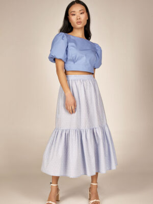Cotton crop top S21-21618S Ruffled skirt S21-21402 - Dolce Domenica