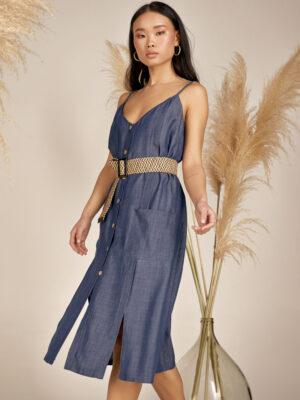 Denim dress S21-21704T - Dolce Domenica