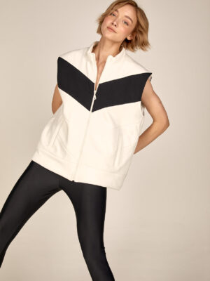 Oversized sweatshirt vest S21-21204